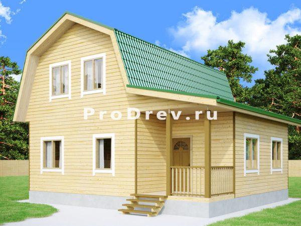 Дом из бруса 8х9 (ДБ-274)