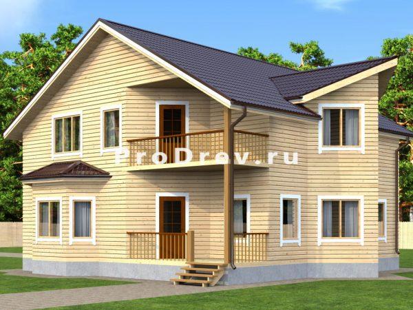 Дом из бруса 10х11 (ДБ-27)