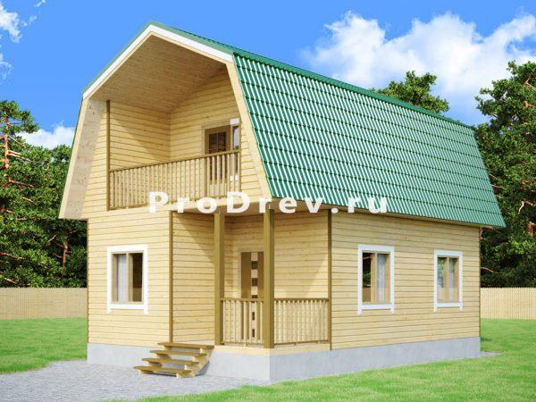 Дом из бруса 6х9 (ДБ-282)