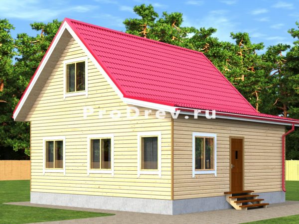 Дом из бруса 8х8 (ДБ-289)