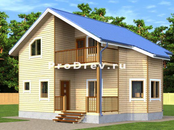 Дом из бруса 8х8 (ДБ-296)