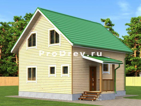 Дом из бруса 7х8 (ДБ-299)
