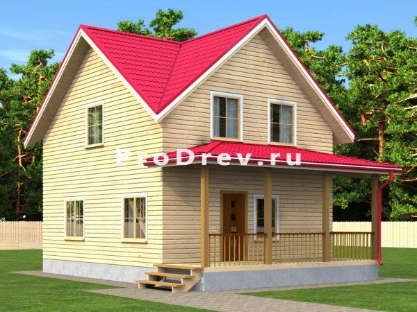 Дом из бруса 7х10 (ДБ-2)