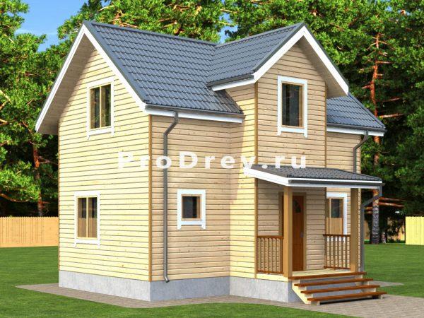 Дом из бруса 6х8 (ДБ-300)
