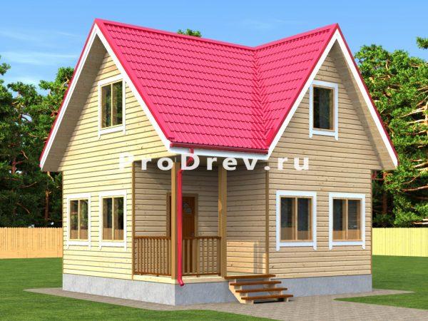 Дом из бруса 6х7 (ДБ-305)