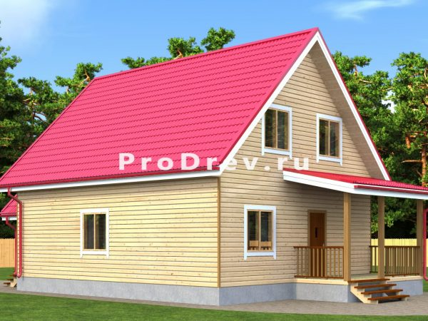 Дом из бруса 8х10 (ДБ-309)