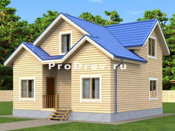 Дом из бруса 8х8 (ДБ-31)