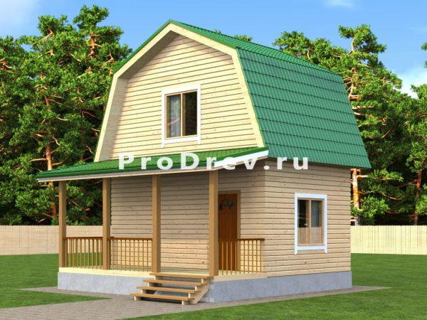 Дом из бруса 6х6 (ДБ-33)