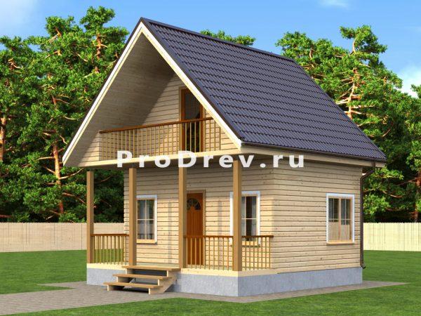 Каркасный дом 4х6 (КД-15)