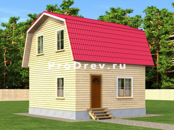 Каркасный дом 6х6 (КД-16)