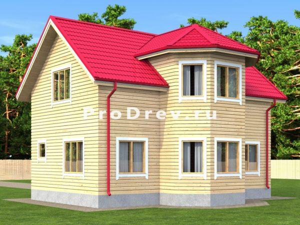Дом из бруса 8х10 (ДБ-3)
