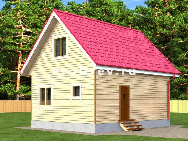 Дом из бруса 6х8 (ДБ-237)