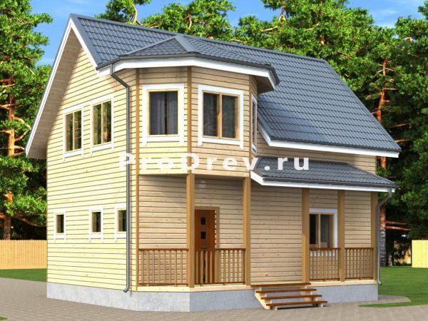 Дом из бруса 8х9 (ДБ-220)