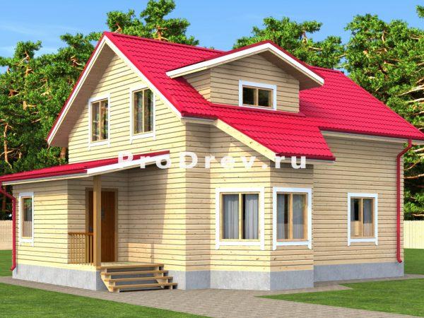 Дом из бруса 8х11 (ДБ-4)