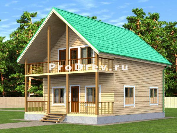 Дом из бруса 7х10 (ДБ-57)