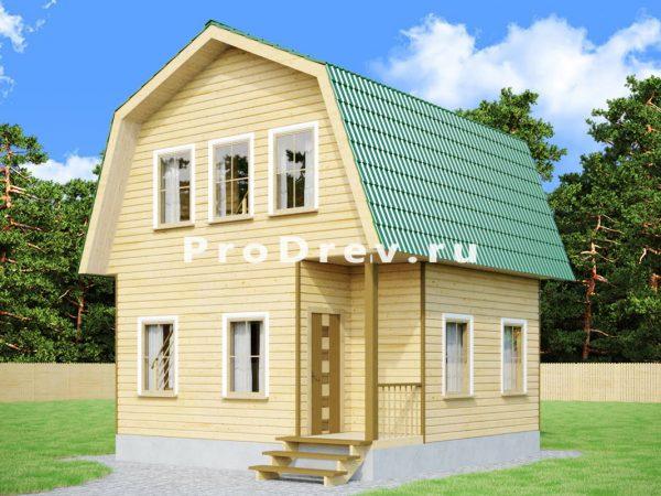 Дом из бруса 6х6 (ДБ-62)
