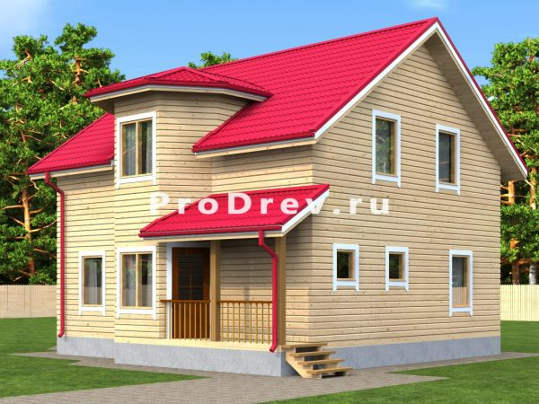 Дом из бруса 8х11 (ДБ-6)