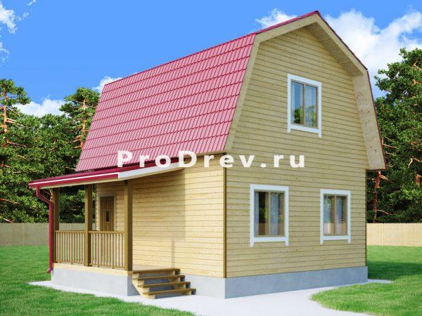 Дом из бруса 6х6 (ДБ-72)
