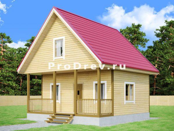 Каркасный дом 7х7 (КД-36)