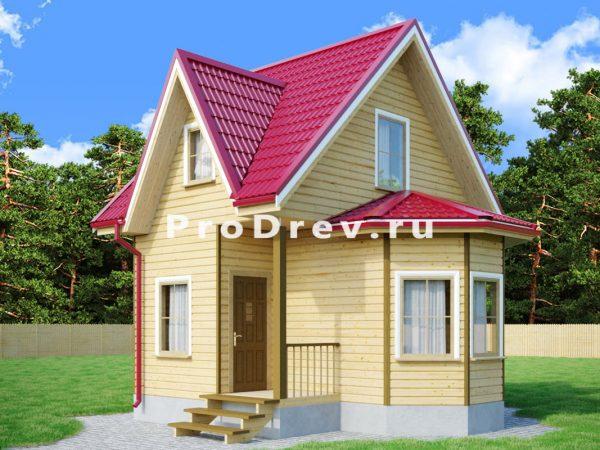 Дом из бруса 6х6 (ДБ-80)