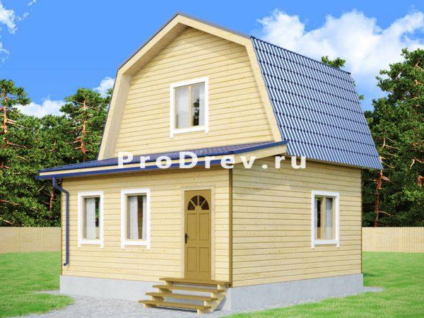 Дом из бруса 6х6 (ДБ-81)