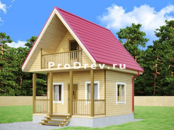 Каркасный дом 4х6 (КД-41)