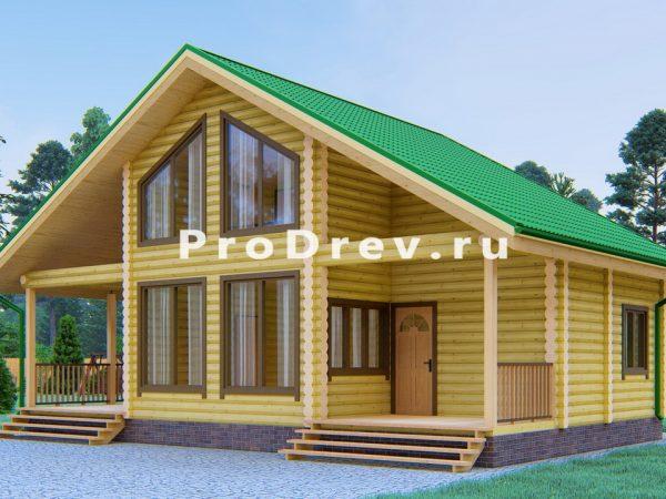 Дом из бревна 7х11 (ОЦБ-11)