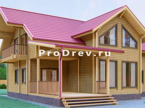 Дом из клееного бруса 12х13 (КБ-12)