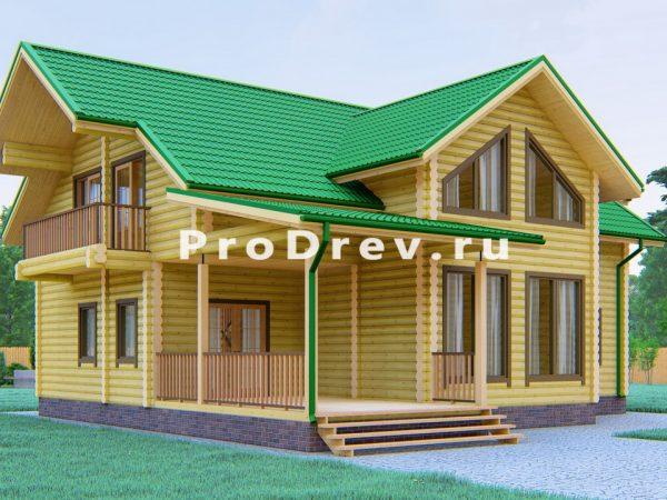 Дом из бревна 12х13 (ОЦБ-12)