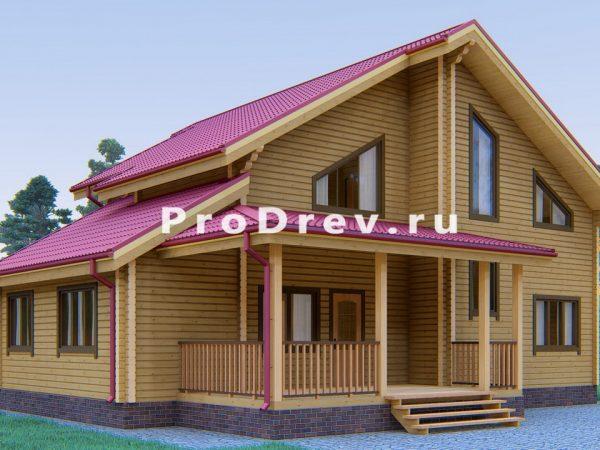 Дом из клееного бруса 10х13 (КБ-13)