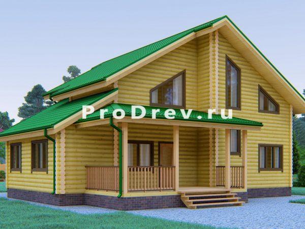 Дом из бревна 10х13 (ОЦБ-13)