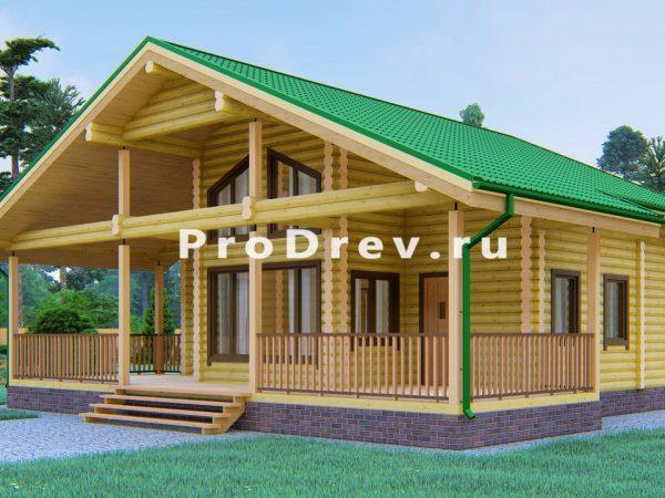 Дом из бревна 10х11 (ОЦБ-15)