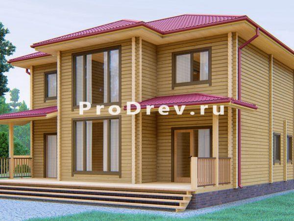 Дом из клееного бруса 10х12 (КБ-17)