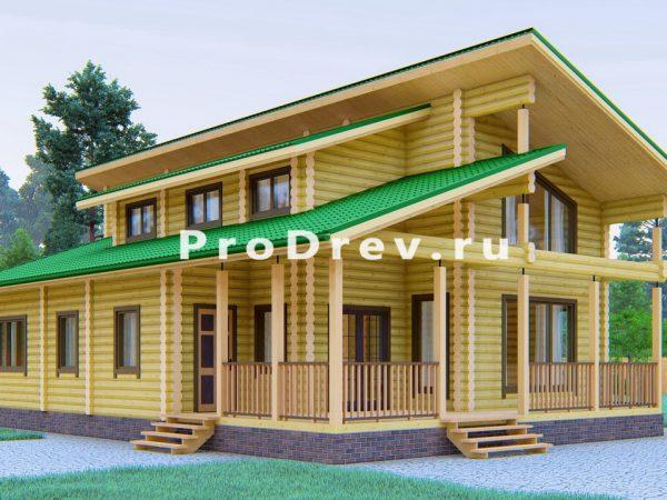 Дом из бревна 11х16 (ОЦБ-18)