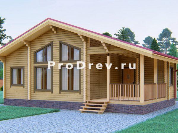 Дом из клееного бруса 10х10 (КБ-19)