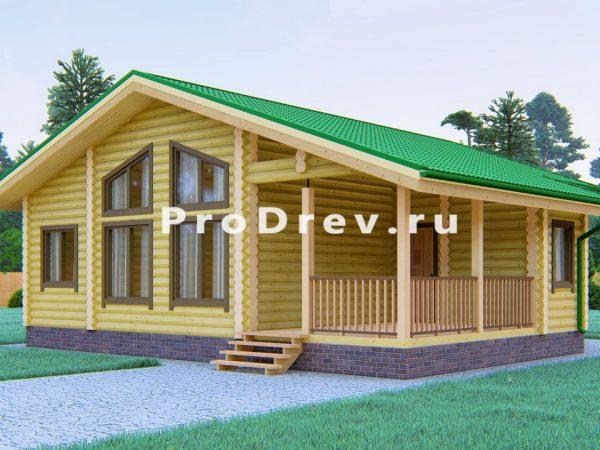 Дом из бревна 10х10 (ОЦБ-19)