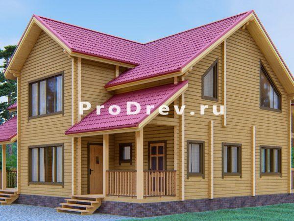 Дом из клееного бруса 12х12 (КБ-1)
