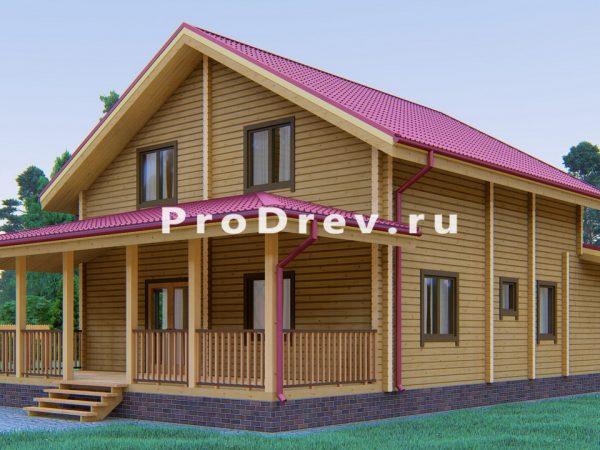 Дом из клееного бруса 9х13 (КБ-20)