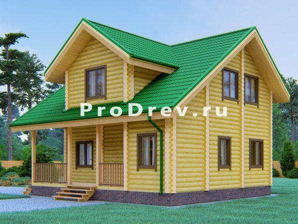Дом из бревна 8х9 (ОЦБ-21)