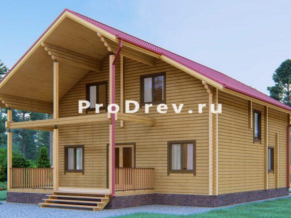Дом из клееного бруса 9х14 (КБ-23)