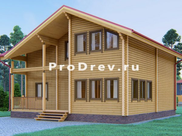 Дом из клееного бруса 9х10 (КБ-25)