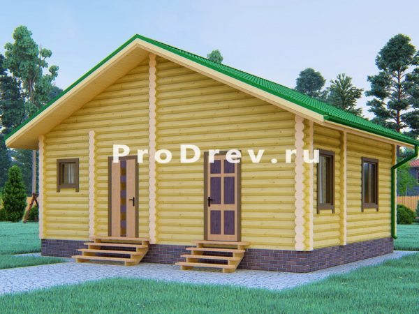 Дом из бревна 6х8 (ОЦБ-26)