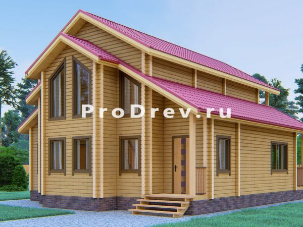 Дом из клееного бруса 10х11 (КБ-27)