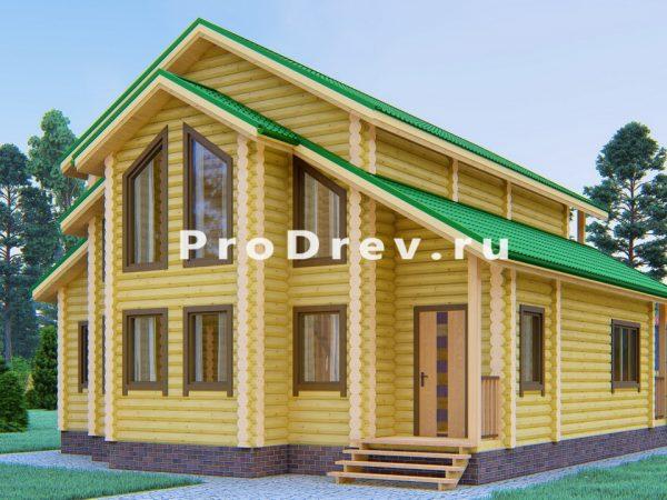 Дом из бревна 10х11 (ОЦБ-27)