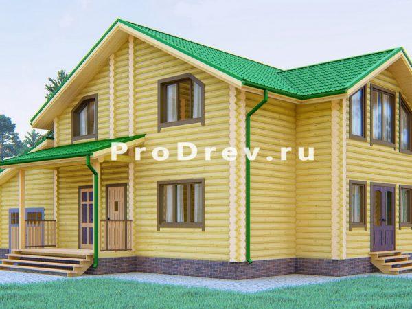 Дом из бревна 10х13 (ОЦБ-29)