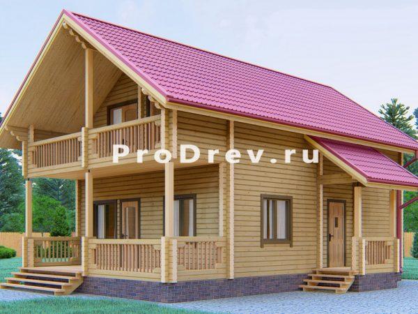 Дом из клееного бруса 7х11 (КБ-2)