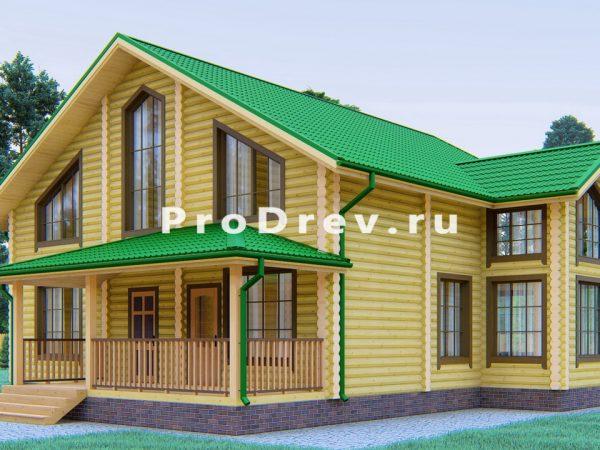 Дом из бревна 12х13 (ОЦБ-30)
