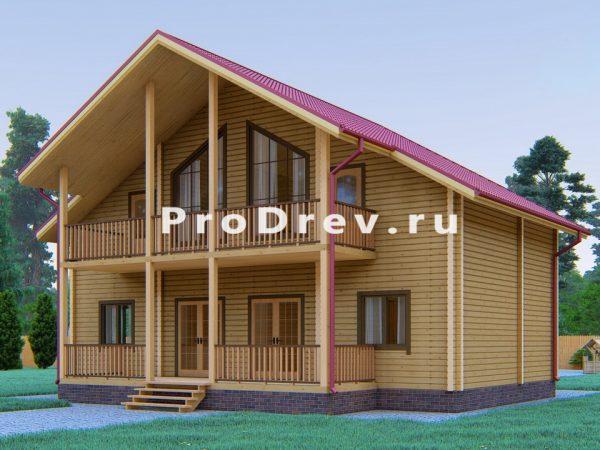 Дом из клееного бруса 12х12 (КБ-32)