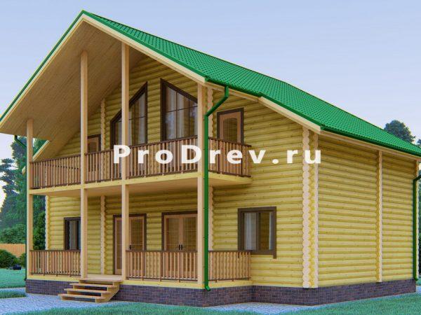 Дом из бревна 12х12 (ОЦБ-32)