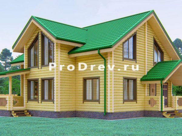 Дом из бревна 11х12 (ОЦБ-33)